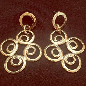 Kenneth Jay Lane Hammered Multi Circle Earrings